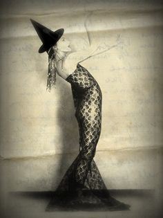 honoria the witch would never consider tea in the garden without her hat connections between the worlds pinterest witches teas and vintage witch - Vintage Halloween Witches