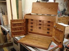 Wooden Fly Box Plans | Ray's Fly Tying Cabinet