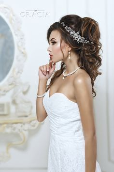 Wedding headband Crystal hairpiece Rhinestone headpiece Bridal Hair Jewelry by TopGracia