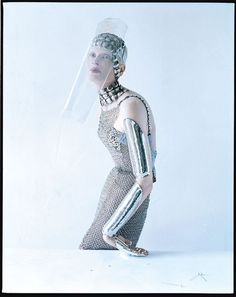 Kristen McMenamy for W Magazine September 2012 by Tim Walker  #fashion #editorial #silver