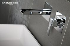 Panama mixer by BAGNODESIGN - the waterfall design spout combined with sleek minimalist body and handle make for a bold and elegant style statement in any bathroom. #waterfall #tap #minimalist #elegant #mixer #bagno #design
