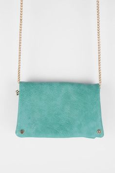 Pouch in Pouch Clutch in Seafoam $52 at www.tobi.com