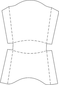 french fry container template- will add cheese balls and a label that says cannon balls