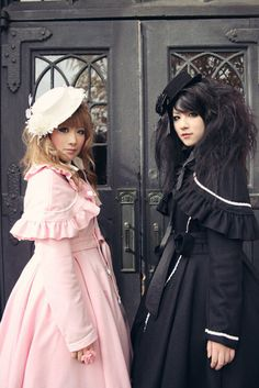Victorian inspired fashion (This reminds me of Kari and me)