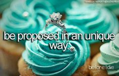 Be proposed to in a unique way. (Not with a cupcake though like this picture….) Tiffany Blue, Azul Tiffany, Tiffany Theme, Tiffany Party, Dream Wedding, Wedding Day, Wedding Rings, Wedding Stuff, Wedding Dreams