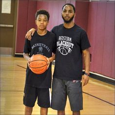 Good Work today with my guy @jwarmack4 - @iballbasketballtraining. #youngestdoinit #gabe3x #iballtraining