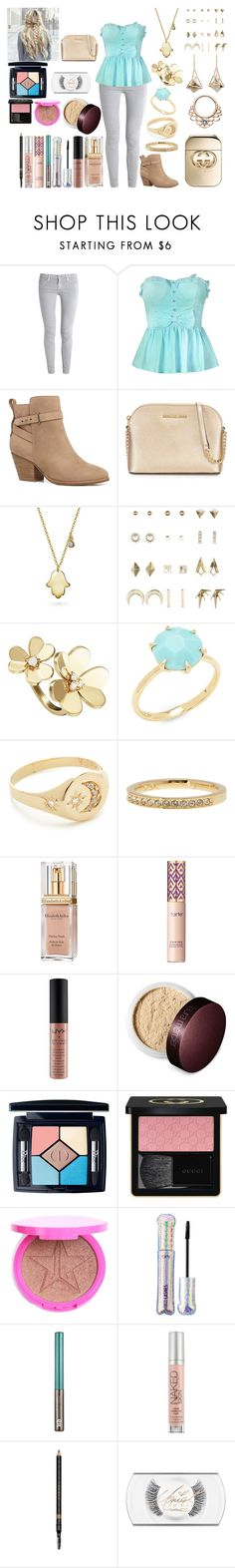"""""""Untitled #884"""" by asiebenthaler ❤ liked on Polyvore featuring AG Adriano Goldschmied, Witchery, MICHAEL Michael Kors, Bling Jewelry, Charlotte Russe, Van Cleef & Arpels, Ippolita, Jacquie Aiche, Swarovski and Elizabeth Arden"""