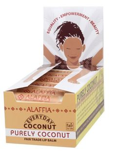 Trend Mark Alaffia Everyday Coconut Lip Balm Coconut Pineapple Chapstick High Quality Materials Bath & Body
