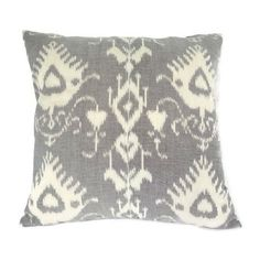 Ikat Pillow Cushion Eclectic Ethnic Industrial Rustic Global Decor... (30 AUD) ❤ liked on Polyvore featuring home, home decor, throw pillows, decorative pillows, home & living, home décor, silver, patterned throw pillows, grey toss pillows and grey throw pillows