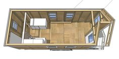 Tiny House Plans   Tiny House Design - 20' Casper I'd do a side door and build the bed/storage on the right end