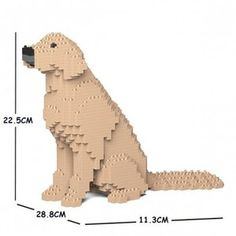 Golden Retriever Building Blocks Dog Sculpture, Sculptures, Golden Retriever Gifts, Pet Dogs, Pets, Pencil Cup, English Bull Terriers, Cute Friends, Your Dog