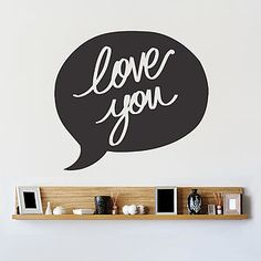 'Love You' Speech Bubble Wall Sticker