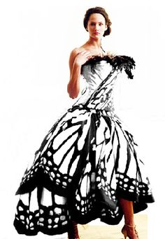 Luly Yang Butterfly dress, in white
