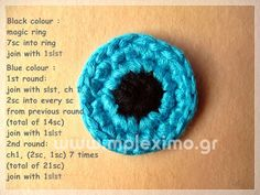 crochet evil eye pattern