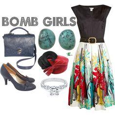 """Bomb Girls"" by kerogenki on Polyvore"