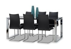 Wall Street 7 Piece Dining Room Suite | Super A-Mart