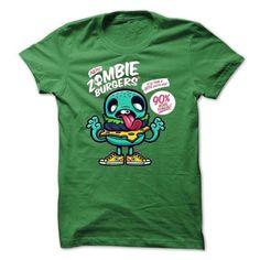 Zombie Burger T Shirts, Hoodies, Sweatshirts. GET ONE ==> https://www.sunfrog.com/Zombies/-Zombie-Burger.html?41382
