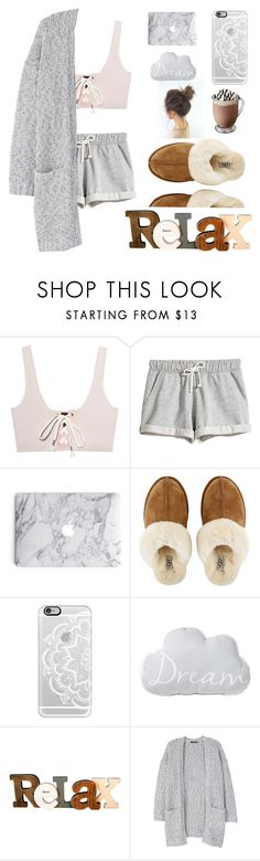"""""""relax"""" by nikki5673 ❤ liked on Polyvore featuring Puma, UGG, Casetify and MANGO"""
