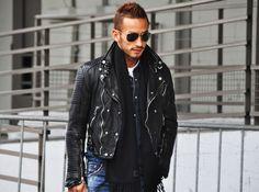 burberry prorsum biker leather jacket
