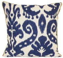 Marrakesh Indigo Batik Pillow by Lacefield