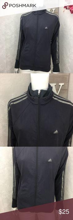 Adidas Clima 365 Jacket athletic gray black jacket Adidas Clima 365 Womens Jacket athletic gray black jacket full zip Size medium  Bust 19 Length 24 Sleeve 24 adidas Jackets & Coats