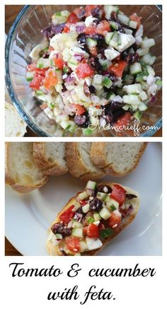 Tomato and Cucumber with Feta Appetizer. - Momcrieff