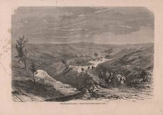 Antique Engraving Bitumen Valley in Persia 1860 by reveriefrance on Etsy