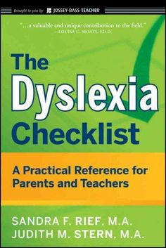 Essential advice and resources for helping kids with dyslexia The Dyslexia Checklist is a valuable guide for parents and teachers that can help them better understand children and teenagers with dysle