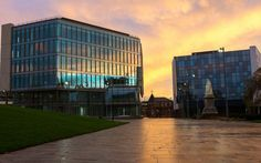 The Council has welcomed a high number of inquiries from firms interested in relocating to brand new grade A offices at Blackburn's stunning Cathedral Quarter. Bill Graham, Offices, Skyscraper, Cathedral, Skyscrapers, Cathedrals, Desk, The Office, Corporate Offices