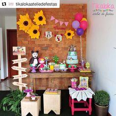 """31 curtidas, 1 comentários - Portal das Festas (@portaldasfestas) no Instagram: """"Lindo  #Repost @tikalokaateliedefestas (@get_repost) ・・・ Pocket Party da Masha e o Urso cheia de…"""""""