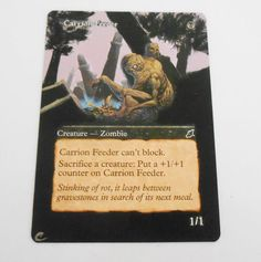 MTG Altered Painted Carrion Feeder Scourge #WizardsoftheCoast