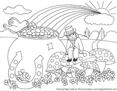 St. Patrick\'s Day Coloring Pages | ... when printed. Only the St ...