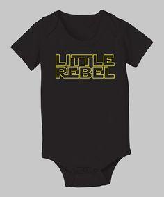 Black 'Little Rebel' Bodysuit - Infant