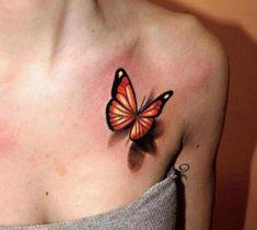 Тату в стиле реализм - бабочки | ТриТатушки
