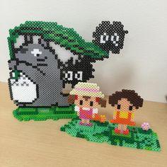 3D Totoro perler beads by  fumitasa