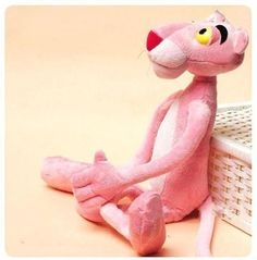 Cute Naughty Pink Panther Plush Stuffed Doll Toy Child Gift Home Decor 40CM