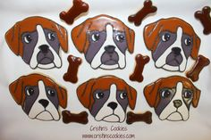 Cristin's Cookies: Boxer Dog Cookies Tutorial