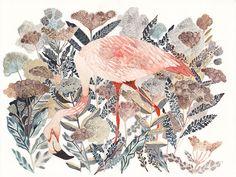 Фламинго и прибрежной Анжелика Оригинал картины unitedthread