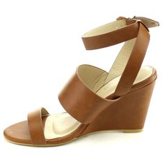 4eb8ce46b0 Anne Marie Women's 'Soho-33' Adjustable Ankle Wedge Dress Sandal High Wedges ,