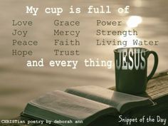 Snippet of The Day 09.24.17 | CHRISTian  poetry ~ by deborah ann
