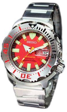 Seiko Men' s RED MONSTER 200M Diver' s Watch # SKZ243 SKZ243K1 (Limited Edition only 1313pcs Worldwide) - Seiko New Model # SKZ243K1
