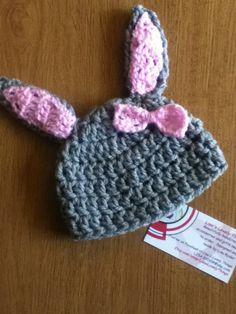 Crochet Baby rabbit hat £10.00