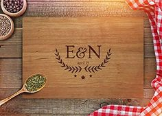 Personalized Cutting Board - Custom Anniversary Gift - Engraved Cutting Board - Initials - Est. Date Engraving - Wedding Present - CB216 (Maple, 9x12 Handle), http://www.amazon.com/dp/B01MCXET4O/ref=cm_sw_r_pi_awdm_x_j6IdybWW1YXTX