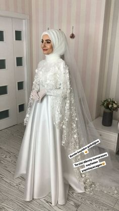 do muslim wear wedding rings Muslim Gown, Muslim Wedding Gown, Muslimah Wedding Dress, Muslim Wedding Dresses, Muslim Brides, White Wedding Dresses, Bridal Dresses, Wedding Gowns, Wedding Abaya