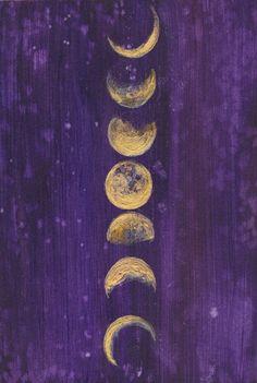 Moon Phases - Moon Art Print - Full Moon - Goddess - Boho - Bohemian Decor - Giclee Print - Girls Ro