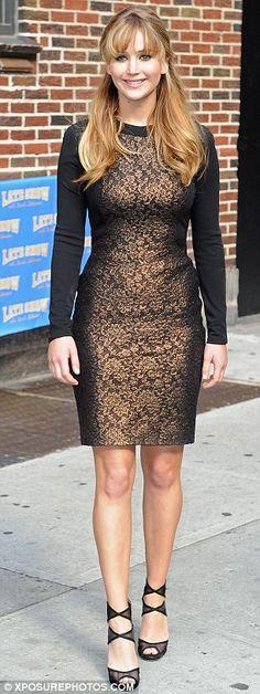 Possibly my favorite dress Jenifer Lawrence has worn so far.