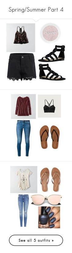 """Spring/Summer Part 4"" by that-girl-j ❤ liked on Polyvore featuring American Eagle Outfitters, Nine West, MICHAEL Michael Kors, Abercrombie & Fitch, Aéropostale, Frame, Hollister Co., Converse, WithChic and Ted Baker"