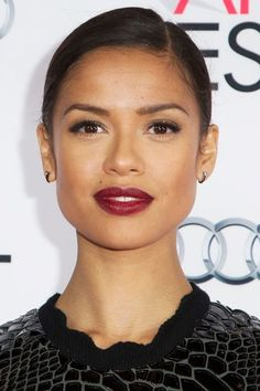 8 Celeb-Approved Wine Lipsticks, For Every Skin Tone #refinery29  http://www.refinery29.com/best-wine-lipstick-colors#slide-13  Makeup artist Carola Gonzalez kept the focus on Gugu Mbatha-Raw's wine-hued pout for a gala in Hollywood. ...