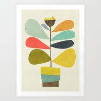 Art Print featuring Potted plant by Budi Kwan