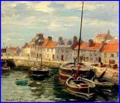 Eyemouth Harbour, Scotland, William Marshall Brown 1863-1936